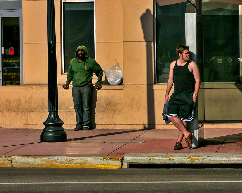 4  Bus stop, Miami Beach, Florida