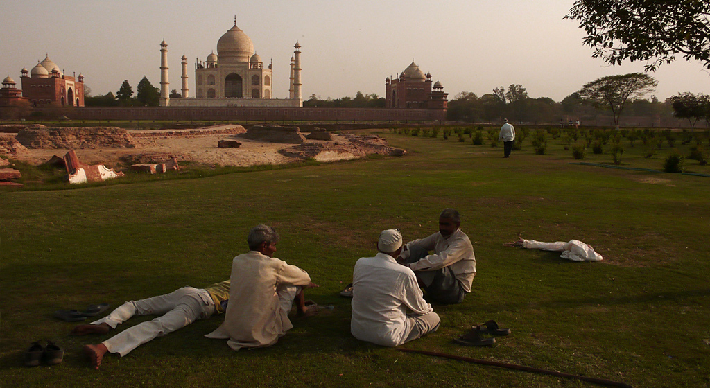 The other side of the Taj, Agra