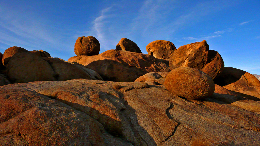 Boulders, Alabama Hills - You can almost feel the presence of a stealthy cowboy waiting, six shooter in hand, behind these rocks.