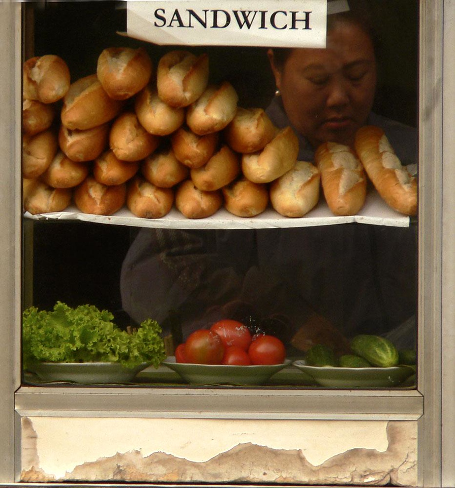 Sandwiches, Huay Xai - Laos was once part of French Indochina. These baguettes are a legacy of those long-gone days.