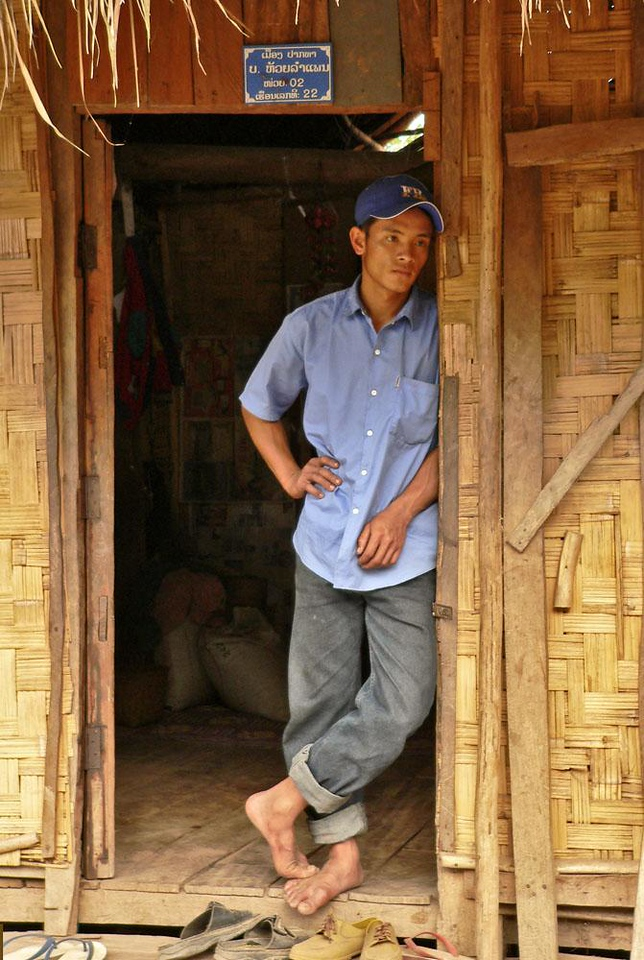 Hmong farmer, near Pak Beng - Most of the Hmong villagers we saw along the Mekong are rice farmers.