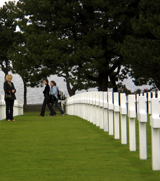 Remembrance, US Cemetery, Omaha Beach - The gray waters of the English Channel carried these warriors to this green place. They never came home.