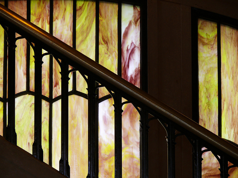 Stained glass, Vista House, Columbia River Gorge, OR