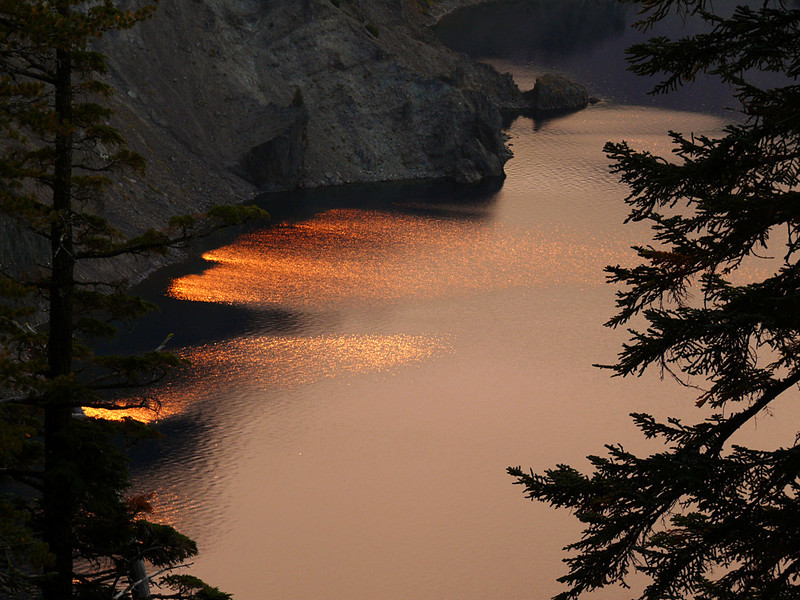 Ring of fire, Crater Lake, OR