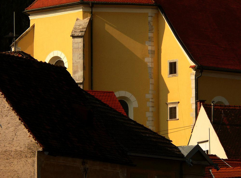 Colors of Samobor - Samobor is a little town 12 miles west of Zagreb. Its 13th century rural charms have always drawn visitors from the big city. A shallow trout stream winds its way through the town center, dominated by the vividly painted St. Michaels Church.