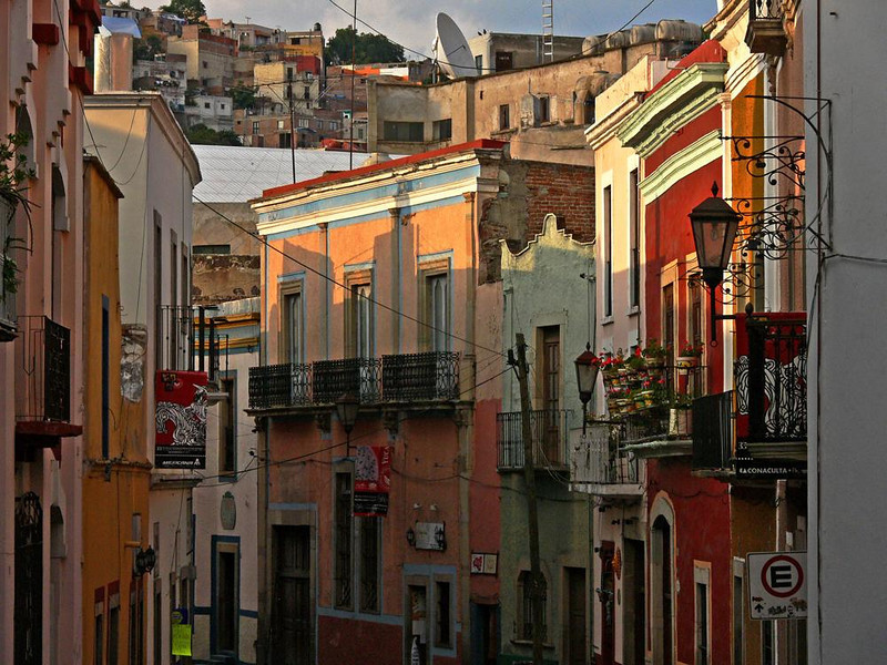 Evening in Guanajuato - Guanajuato, home of silver and gold mines discovered by the Spanish in 1548, is a colorful city built among the hills of Central Mexico. 400 years of history is reflected in the variety of its buildings.