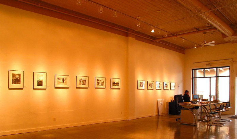 "Photographic exhibition, Santa Fe - Santa Fe has a number of well-known photography galleries. This one hosts an exhibition of the work of the late Robert Doisneau. A signed print of his best known image ""The Kiss"" was priced at $60,000."