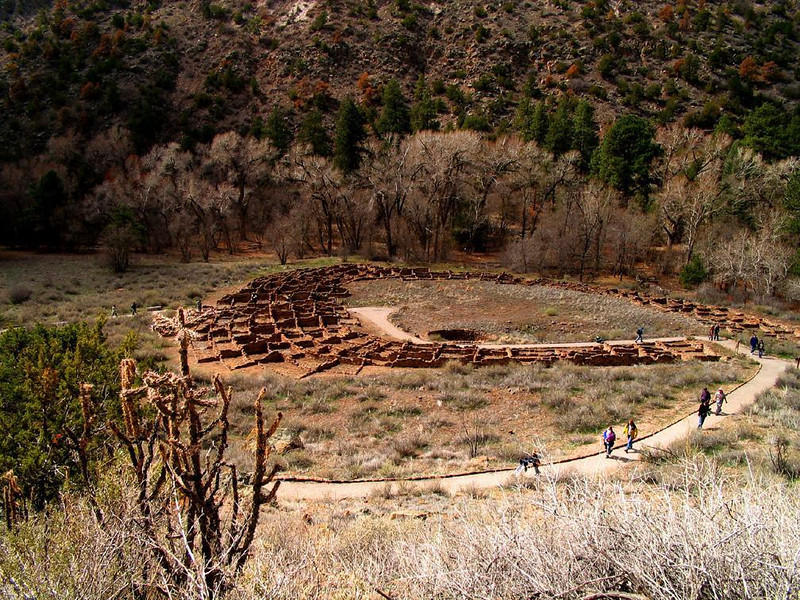 Ruins of Tyuoni, Bandelier Nat. Monument - The 800 year old ruins of the ancient Anasazi Pueblo of Tyuoni cover the floor of Frijoles Canyon near the entrance of Bandelier National Monument.