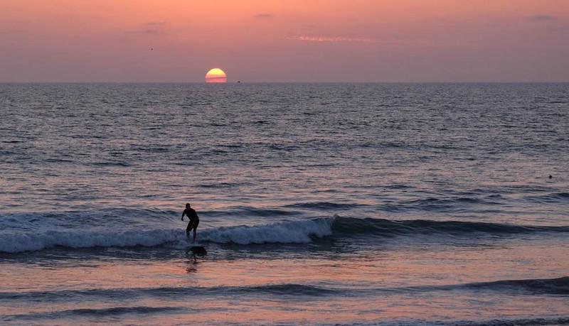 25  Sunset surfer, Imperial Beach, CA