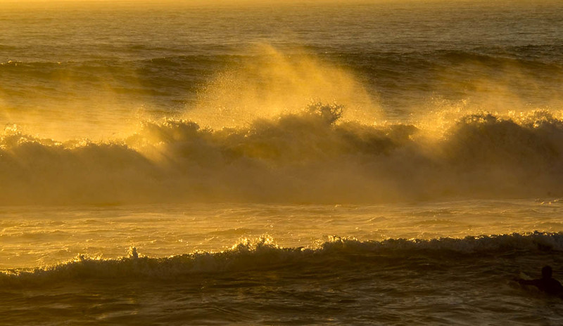 93  Heavy seas at dusk, Imperial Beach, CA
