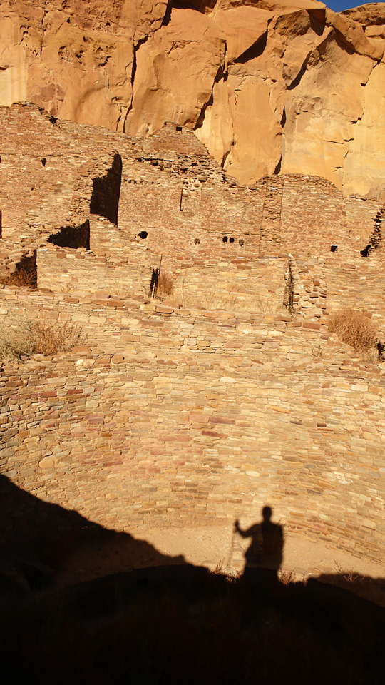 At the heart of Chaco - Chaco Culture National Historic Park is a ruined ancient city in North Central New Mexico. It's origins are still shrouded in mystery -- the Choacoans left no written records. Chaco is a park for the imagination, and this image serves it well.