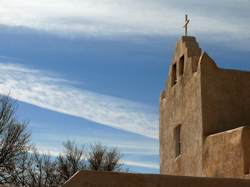 San Jose Mission Church, Laguna - This mission was established in 1699 at the Laguna Pueblo, west of Albuquerque. The Pueblo was named for a lake that has vanished.