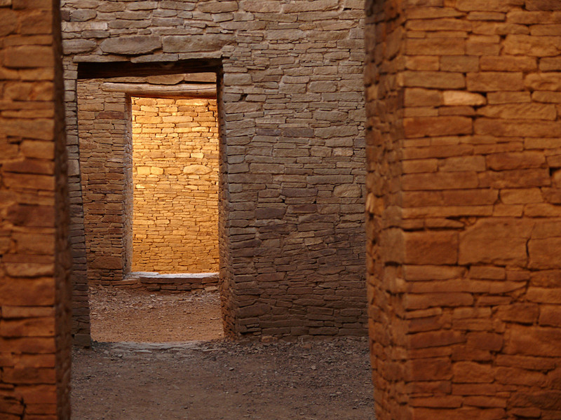 Doors of time, Chaco - There are more than 30 ancient structures, built around 1,000 years ago, in Chaco. They hold hundreds of empty rooms, each of them connected by doors going in and out. Looking through them felt like looking back into time itself.