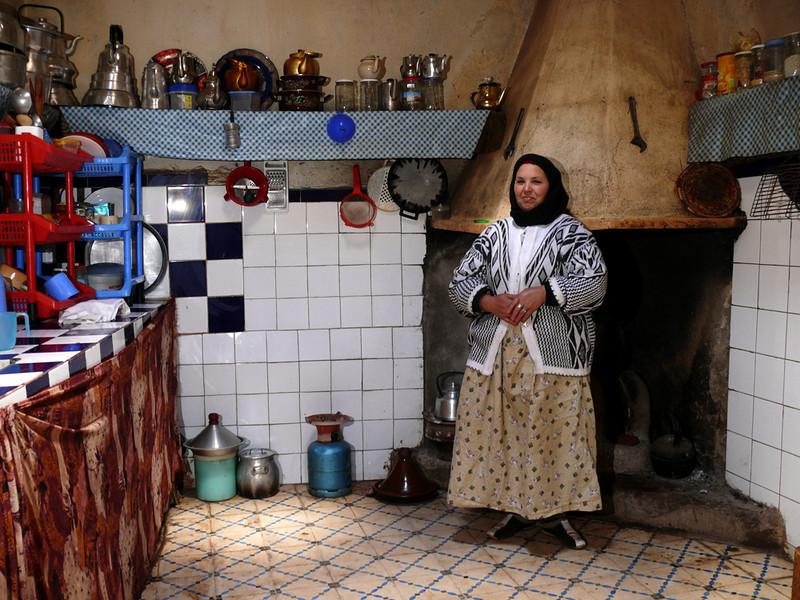 Berber cook, Ouirgane - We had lunch with a rural family in Ouirgane. Our hostess graciously allowed me to make this portrait of her in her country kitchen.