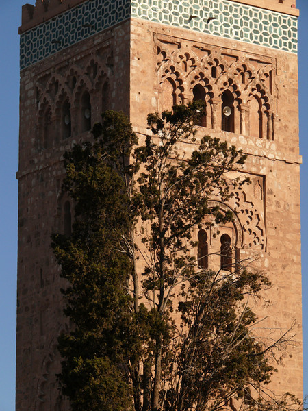 Koutobia Minaret, Marrakesh - The 230 foot high minaret is the highest structure in Morocco's third largest city. Built in the 12th Century, this minaret served as the model for the famous Giralda in Seville.