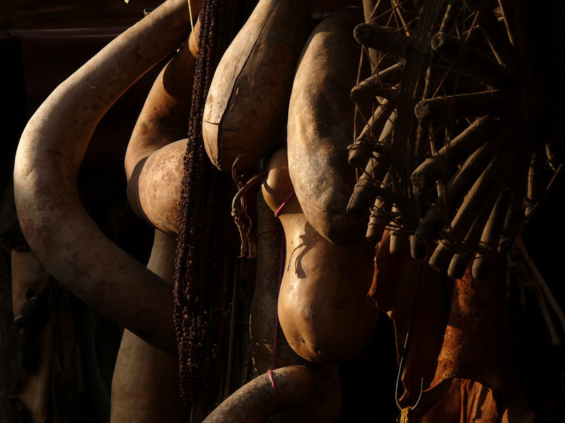 Gourds, Marrakesh - Gourds such as these are sold in the markets and souks of Marrakesh.