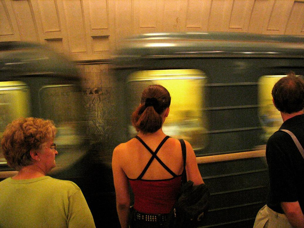 Rush hour, Moscow Metro - Moscow's subway system, built by Stalin in the 1930s, is one of the most efficient in the world. Trains blanket the city, and many of its stations feature decorations worthy of a palace.