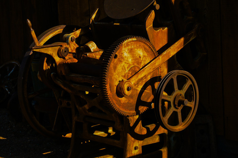 Mining machinery, Goldfield, Arizona