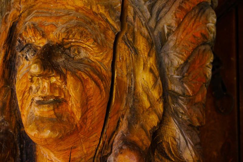 Wood sculpture, Tortilla Flat, Arizona