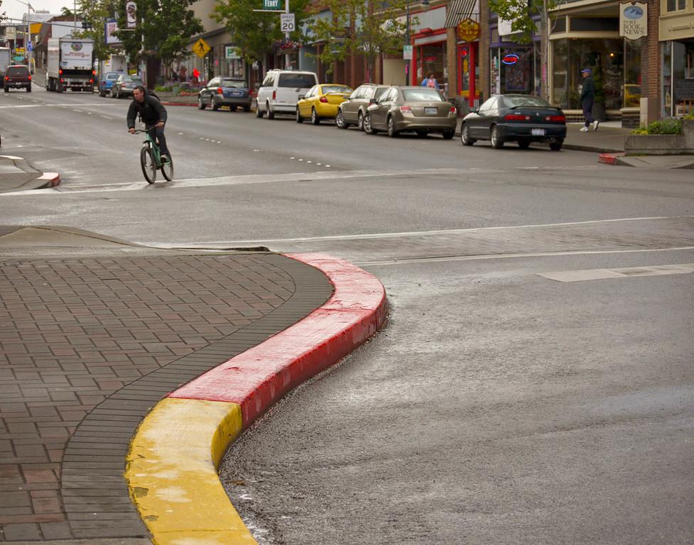 Cyclist, Port Angeles, Washington