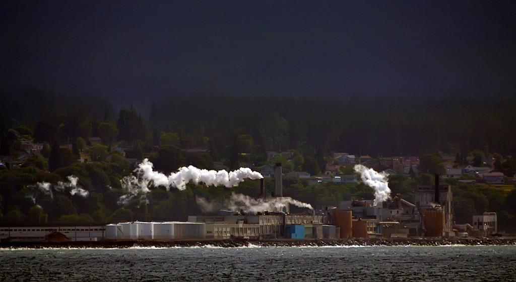 Chimneys of Port Angeles, Washington