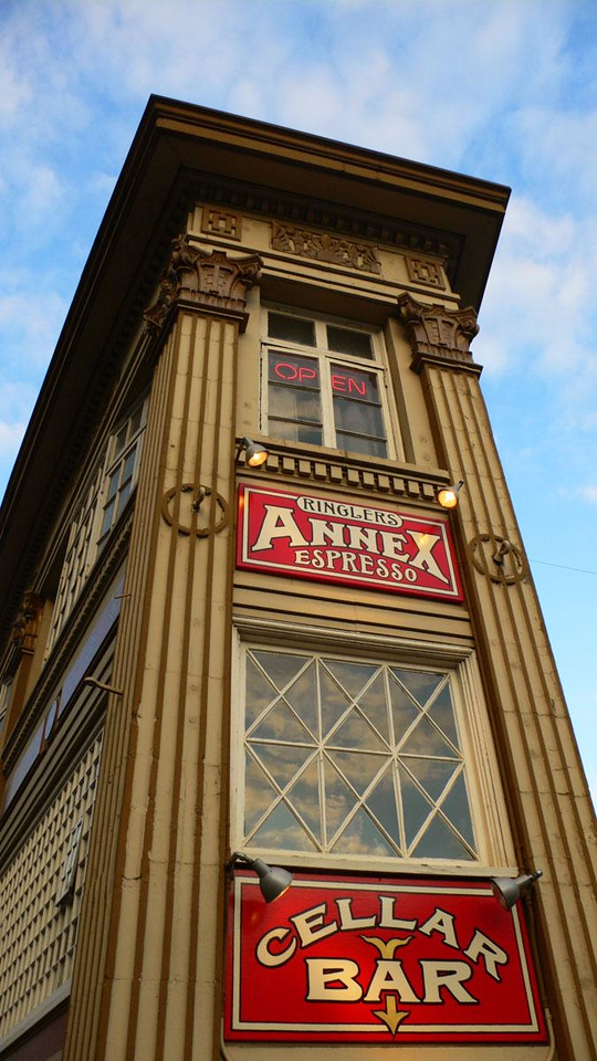 The past lives in Portland - Portland's downtown area features many old buildings dressed up for 21st century business.