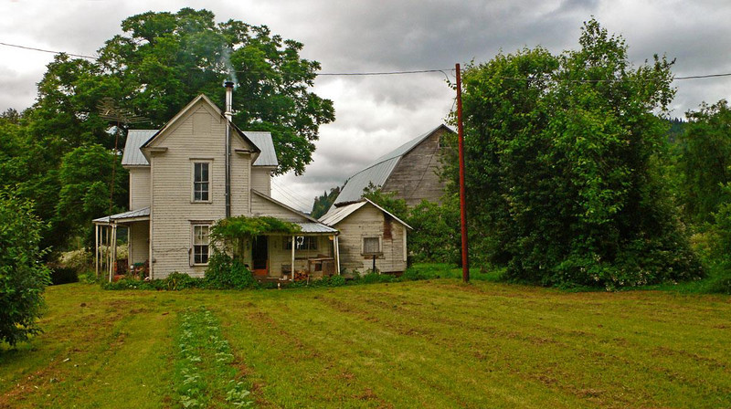 Jennings Farmhouse, Remote - A rain squall was moving in as I made this photograph of the house that still must look pretty much as it did 100 years ago.