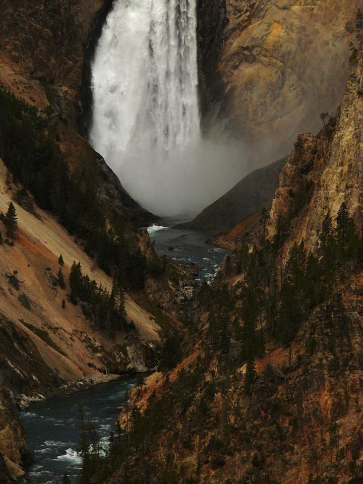 Lower Falls, Yellowstone River, WYk
