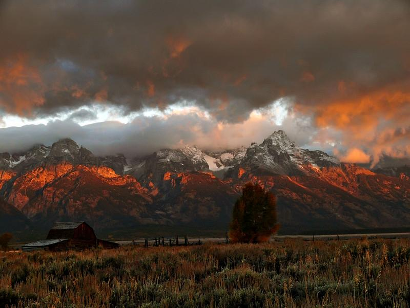 Grand Tetons at Dawn, WY