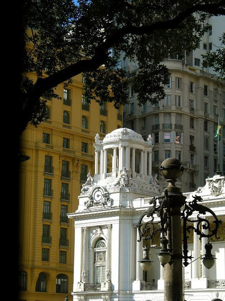 Municipal Theatre, Rio - The magnificent Municipal Theatre, and an ornate lamp post, are remnants of Rio's golden age. The theatre still hosts visiting performers from around the world.