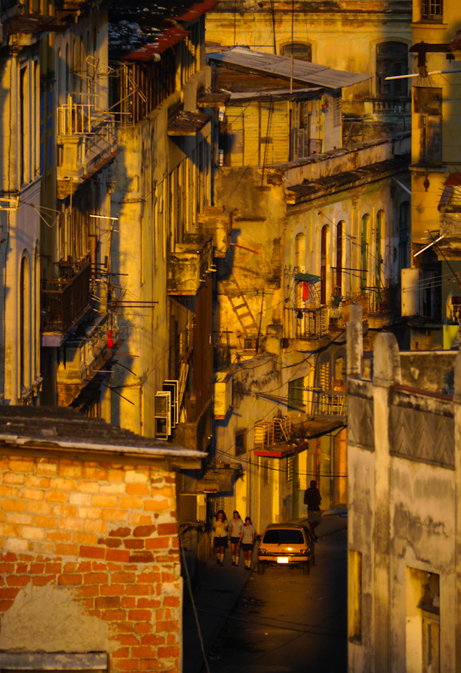 Gilded street, Havana