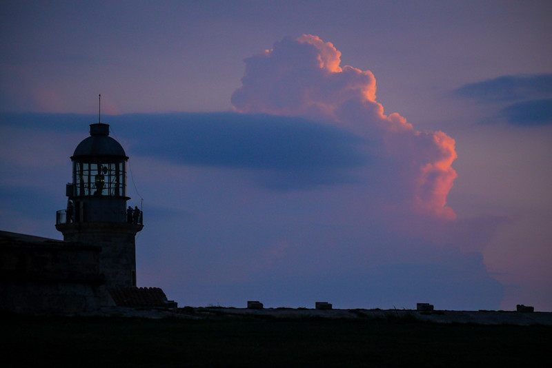 Thunderheads over Morro Castle, Havana