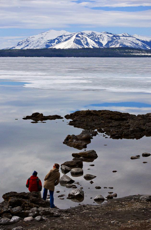 Ice bound Lake Yellowstone