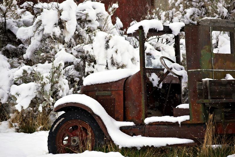 Bannack MT -- snowbound