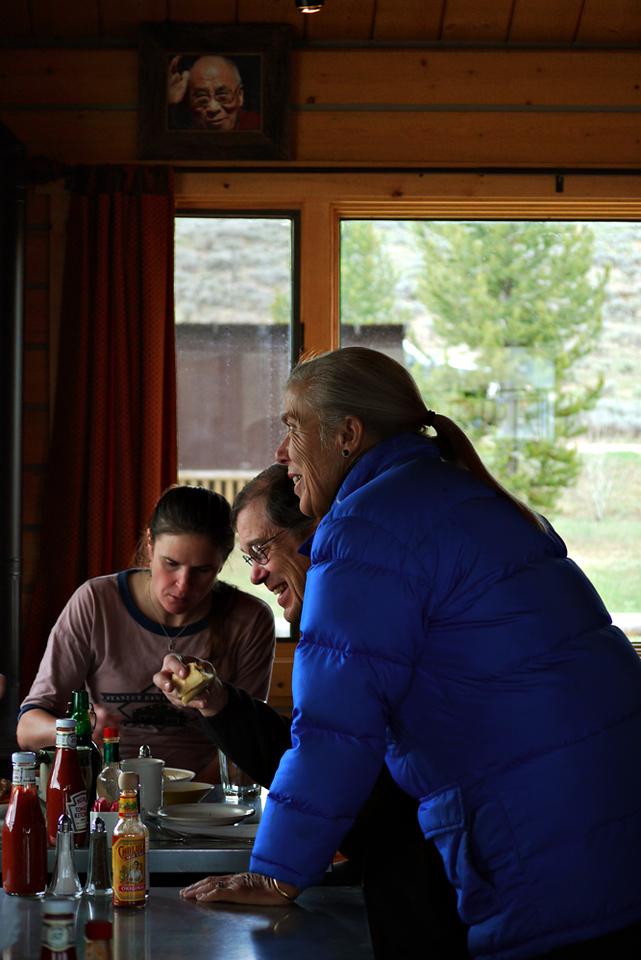 breakfast with Dali Lama, Stanley, ID