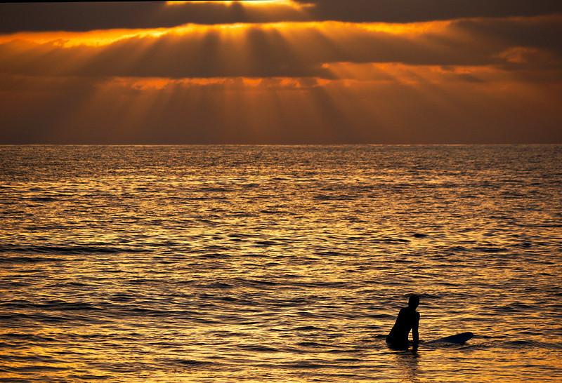 God's Rays, Mission Beach