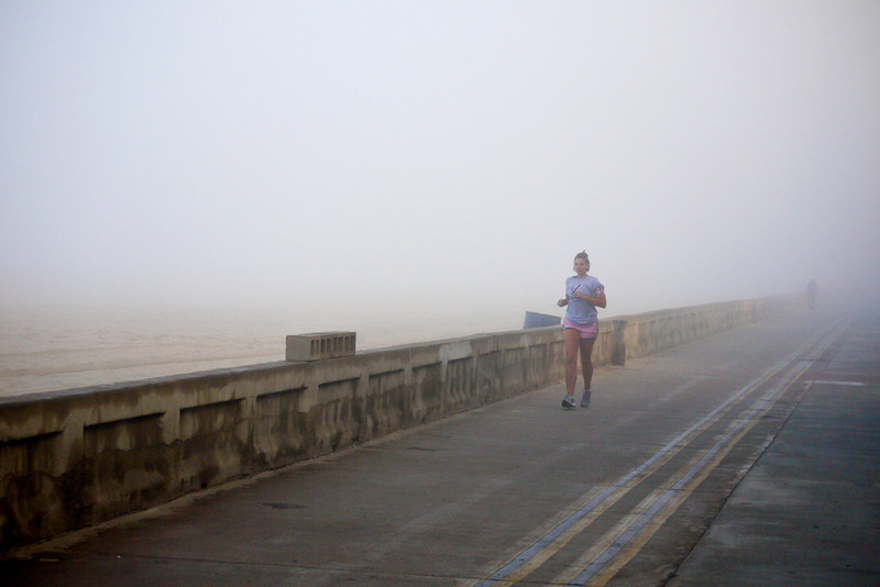 Foggy run, Mission Beach