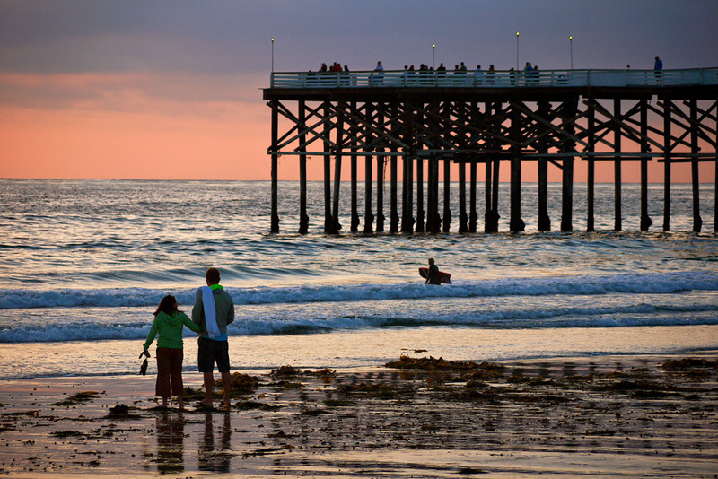 Dusk, Crystal Pier, Pacific Beach
