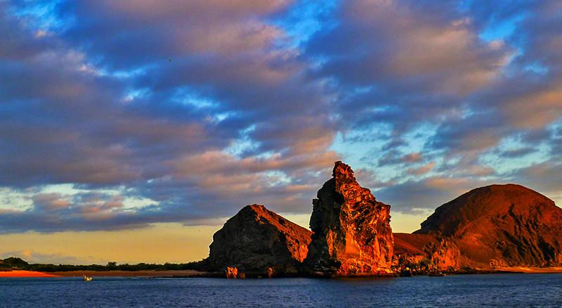Pinnacle Rock at sunset, Bartolome, The Galapagos