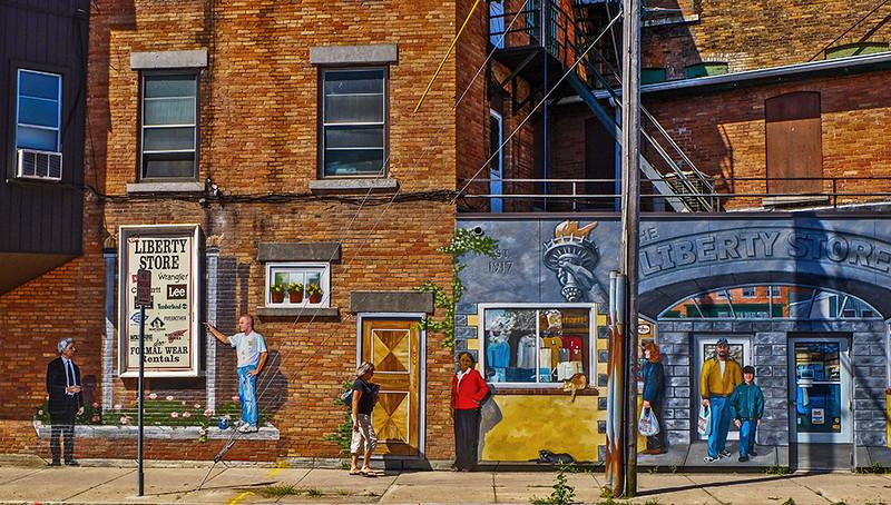 23 Street scene, Auburn, NY