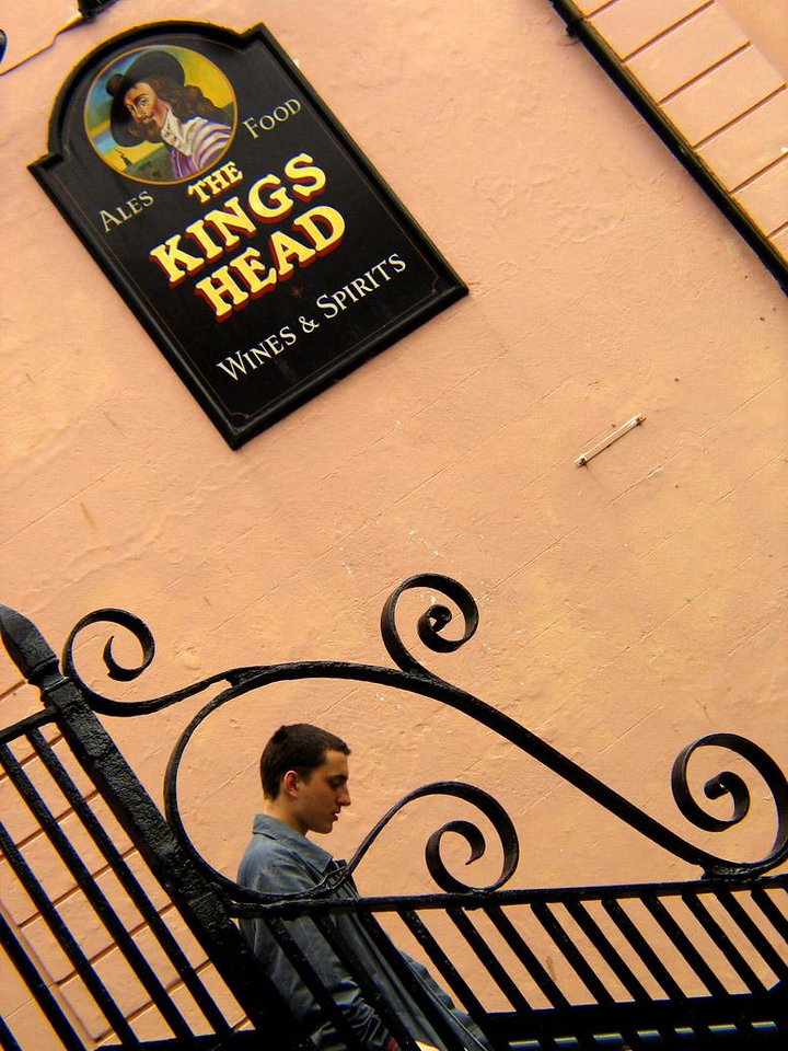 Kings Head Pub, Falmouth - The main street of Falmouth is lined with pubs honoring fish, fowl, and kings. This one is named for a king (Charles I) who lost his head.