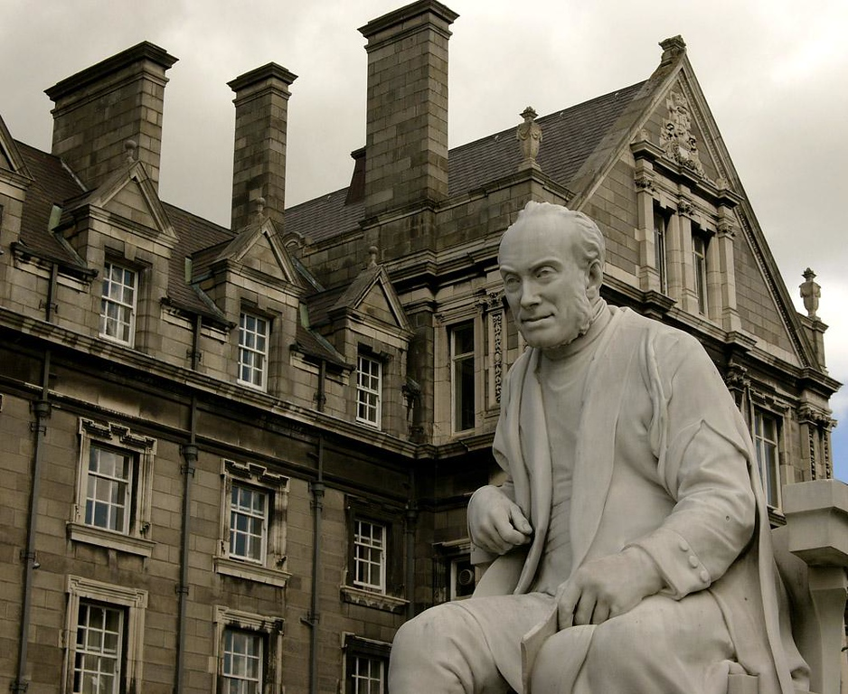 Provost, Trinity College, Dublin - The more I looked at this sculpture on the University's campus, the more lifelike it became. I almost expected him to rise from his chair and head back into his office.