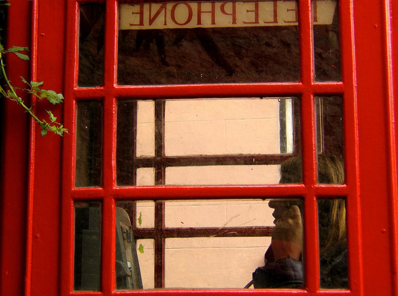 Phone Booth, Falmouth - Despite the omnipresent cell phone, Falmouth's colorful phone booths accommodate a steady stream of customers.