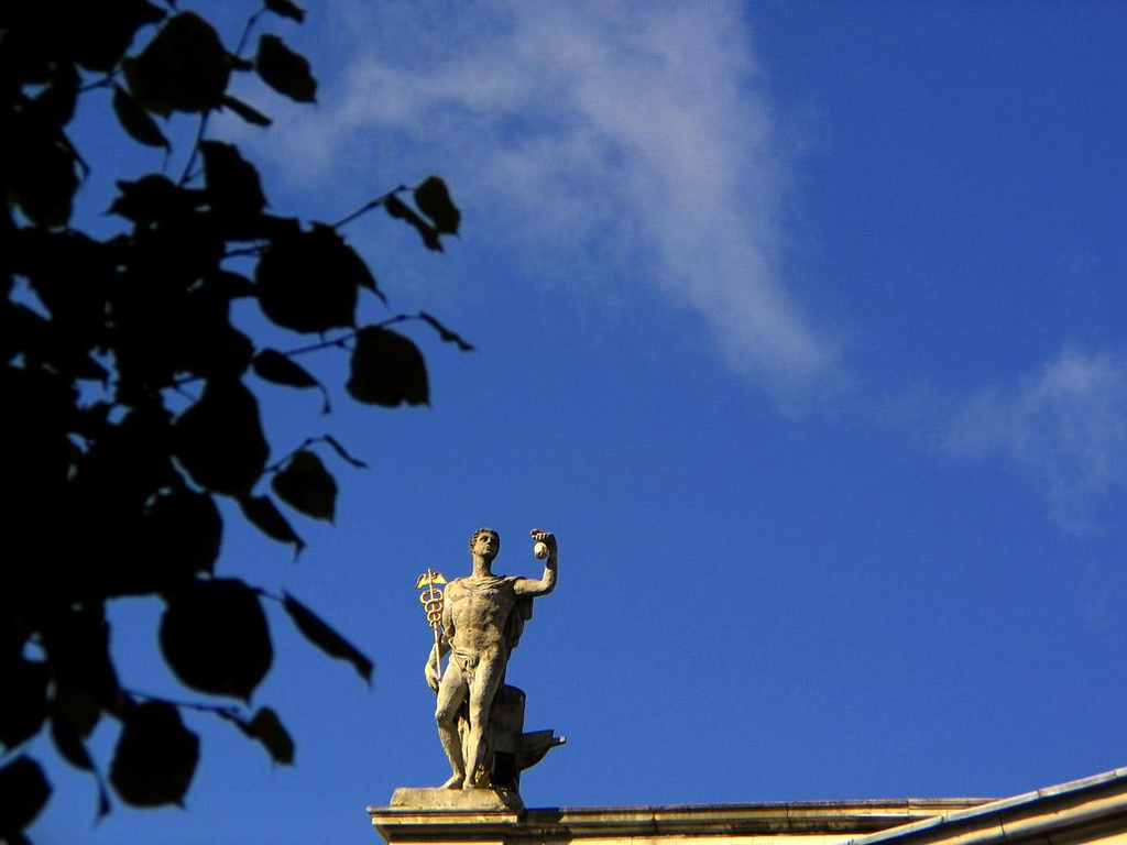 GPO, Dublin - Dublin's General Post Office is appropriately graced by a statue of Mercury, ancient Rome's swiftest God.