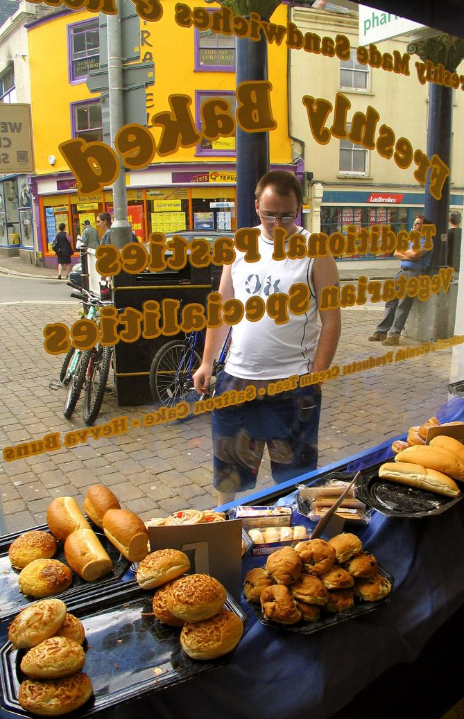 Window shopping, Falmouth - Freshly baked breads, rolls, and pastries on Falmouth's Market Street.