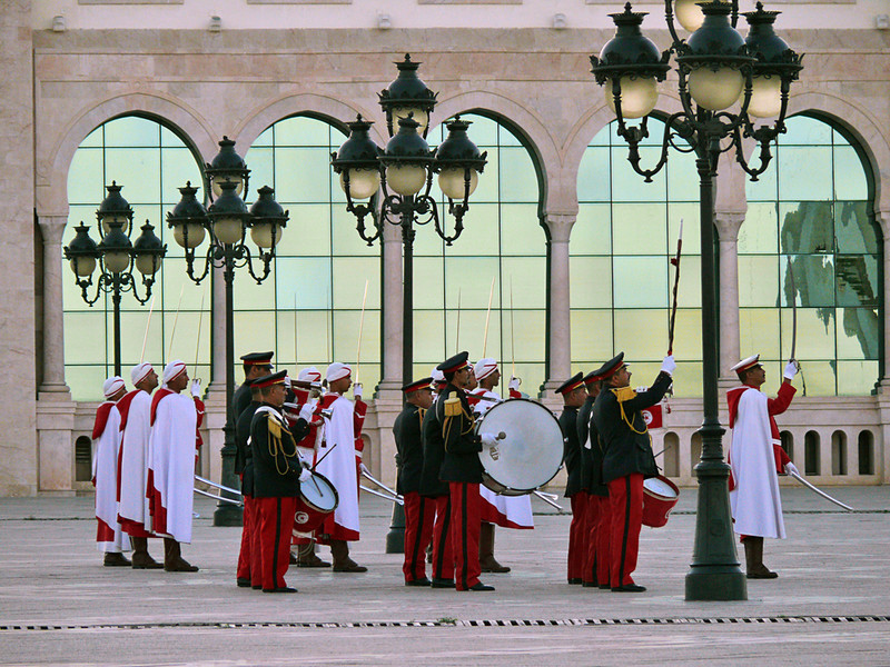 Lowering the flag, Tunis