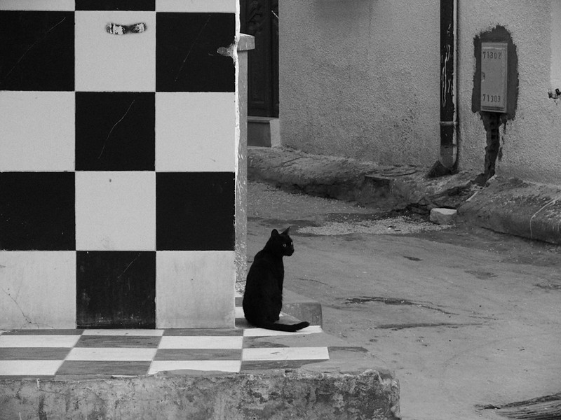 Black and white, Kairouan