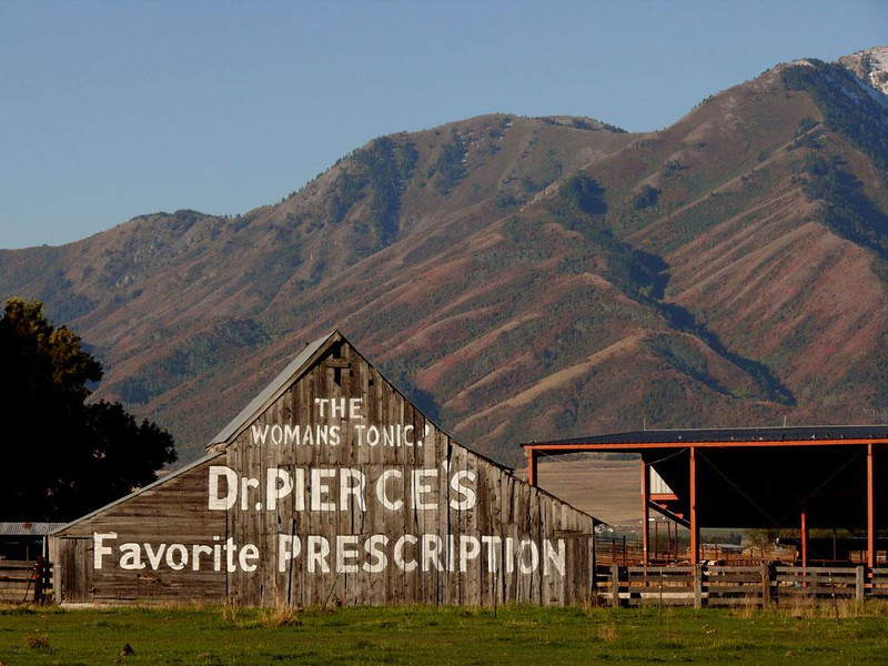 On the road to the Tetons - We saw this barn just outside of Logan, Utah. The advertisement has no doubt been photographed many times.