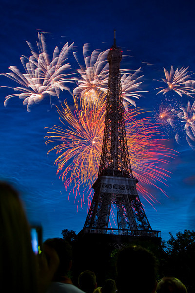 Bastille Day in Paris at the Eiffel Tower