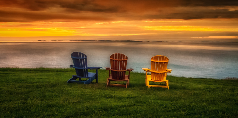 Chairs on Shore in Newfoundland